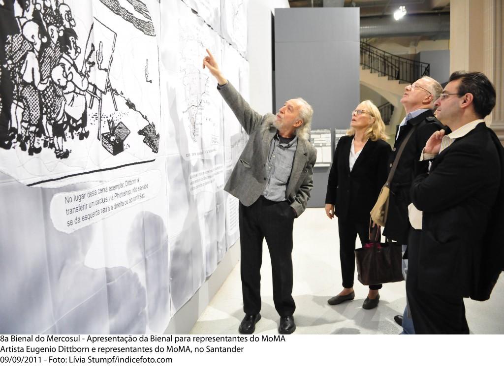 Eugenio Dittborn en la 8° Bienal de Mercosur.