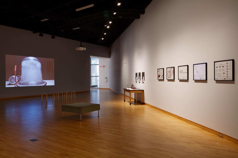"""Karolina Sobecka, Una memoria, un ideal, una proposición, 2017. Vista de la instalación en """"The Visible Turn"""", USF Contemporary Art Museum, Tampa, Florida, EEUU, 2019. Foto: Will Lytch"""