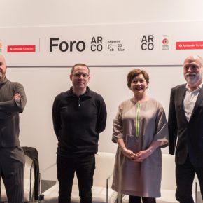 Manuel Segade, Alejandro Cesarco, Maribel López y Han Nefkens. Cortesía: ARCOmadrid