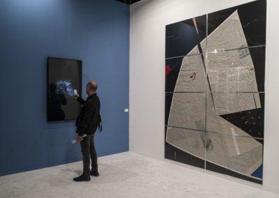 Enrique Ramírez en Michel Rein, París. Foto: Mariella Sola