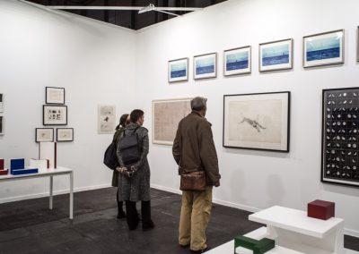 Stand de la galería Henrique Faria Buenos Aires en Feria ARCOmadrid, 2019. Foto: Mariella Sola