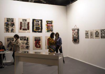 Herbert Rodríguez en la galería Henrique Faria, como parte de la sección Perú en ARCO, Feria ARCOmadrid, 2019. Foto: Mariella Sola