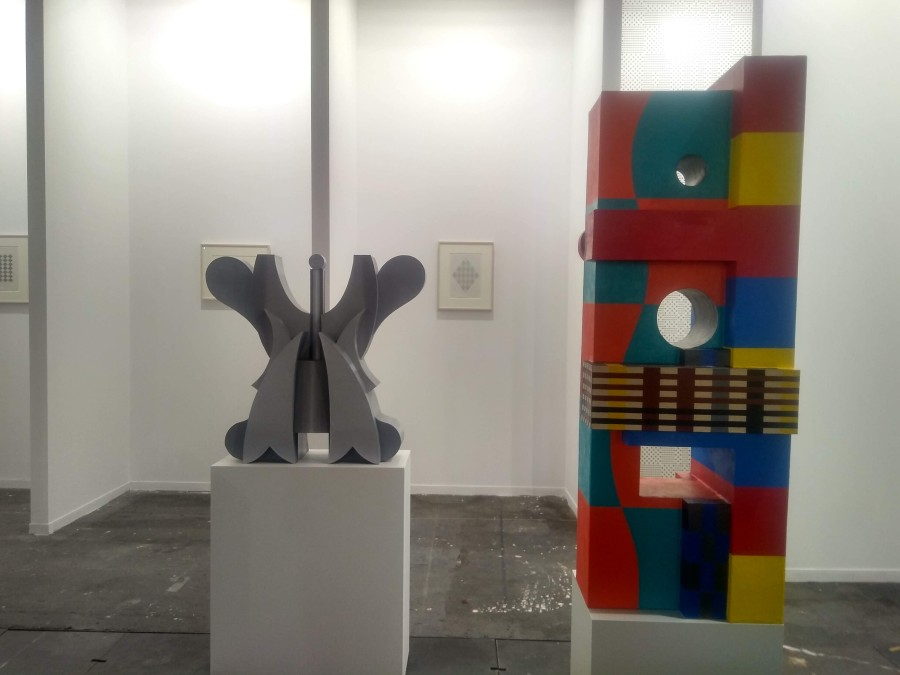 Ruth Wolf-Rehfeldt (Alemania, 1932) y Rodrigo Hernández (México, 1983), en la galería ChertLüdde, parte de la sección Diálogos de ARCOmadrid 2019. Foto: Alejandra Villasmil
