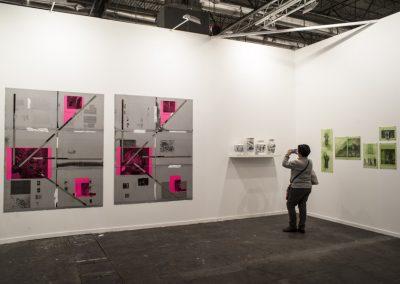 Obras de Nicolás Franco en el stand de la galería Aninat (Santiago de Chile), en la Feria ARCOmadrid, 2019. Foto: Mariella Sola
