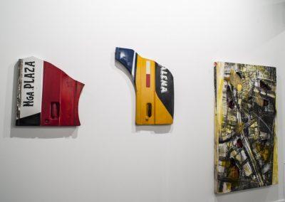Obras de Alberto Borea en el stand de la galería Aninat (Santiago de Chile), en la Feria ARCOmadrid, 2019. Foto: Mariella Sola