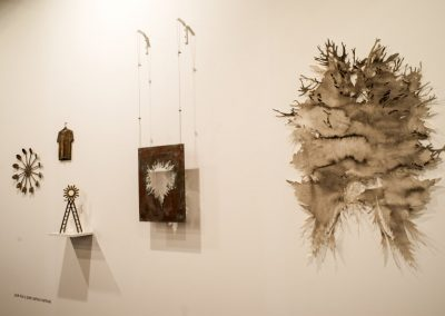 Obras de José Luis y José Carlos Martinat en galería Nosco, ARCOmadrid, 2019. Foto: Mariella Sola