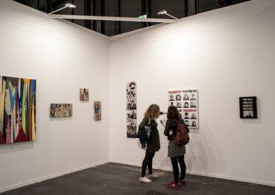 Lenora de Barros, Wanda Pimentel, Cadu y Ivens Machado en Anita Schwartz, ARCOmadrid, 2019. Foto: Mariella Sola