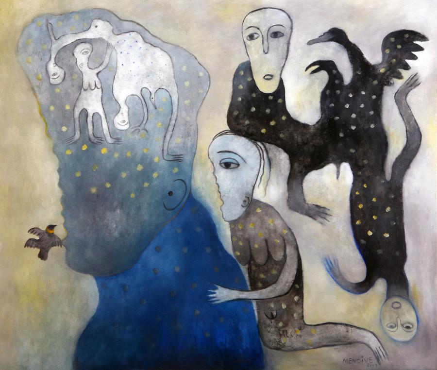 Manuel Mendive, What's in my head, 2009. Cortesía: Xin Dong Cheng Gallery. Art Paris 2019