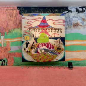 Yann Gerstberger, A Mangrove at Dusk. Vista de la exposición en Museo MATE, Lima, 2019. Foto: Edi Hirose