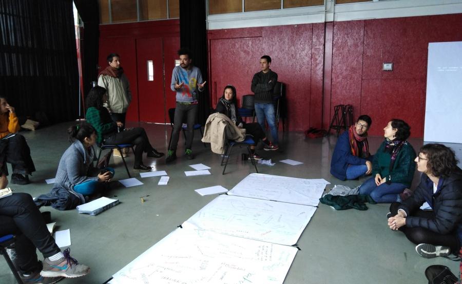 Arte / Educación, taller dictado por Mônica Hoff en Fragua, Valdivia, Chile, 2019. Cortesía: Mônica Hoff/Fragua