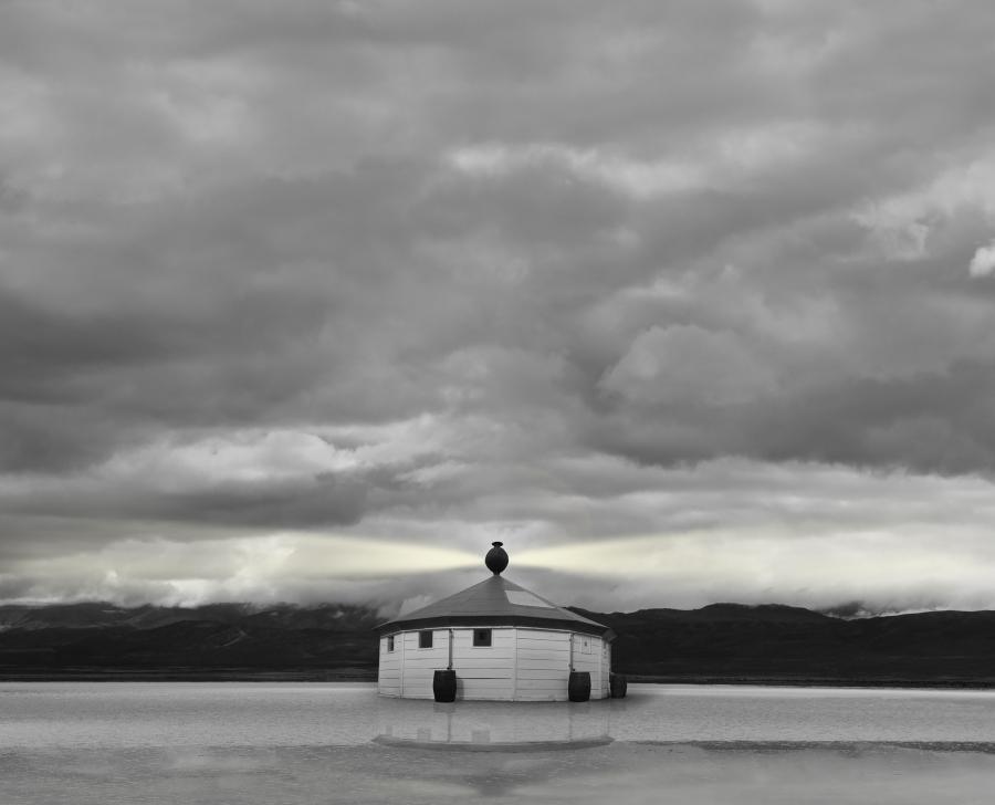 """Matilde Marín, Atlántico Sur, parte de la muestra """"Paisajes entre paisajes"""", Museo Fueguino de Arte - Centro Cultural Yaganes. Cortesía: Bienalsur"""