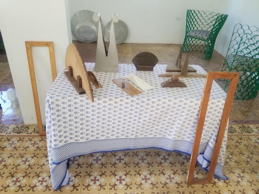 Vista del taller de Zilia Sánchez en Santurce, Puerto Rico. Foto: Irene Esteves Amador