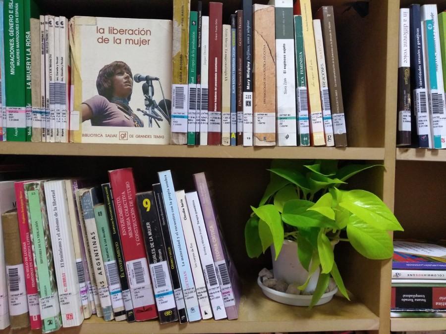 """""""Puede que esta vez sea diferente"""", una versión de la Biblioteca Martha Rosler hecha especialmente para Argentina, en MUNTREF, Buenos Aires, 2019. Foto: Alejandra Villasmil"""