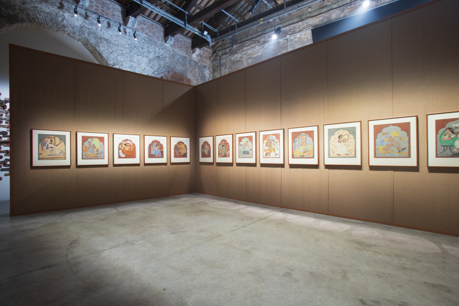 Vista del Pabellón de India, Our time for a future caring, en la 58° Bienal de Venecia, 2019. Foto: Italo Rondinella