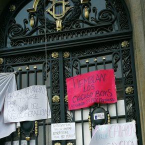 Toma feminista de la Universidad Católica, Chile, 16-05-18. Foto publicada en Redes Sociales.