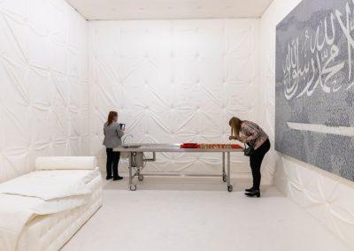 """Abdulnasser Gharem en la sección """"Unlimited"""". Representado por Galerie Nagel Draxler. Foto cortesía de Art Basel"""