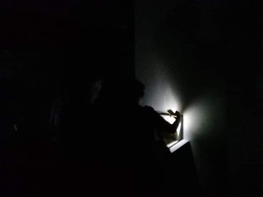 """""""En la sala TAC se inaugura con luz y sin ella"""". Fotografía de Esperanza Villarino. Posteada el 31 de marzo de 2019"""
