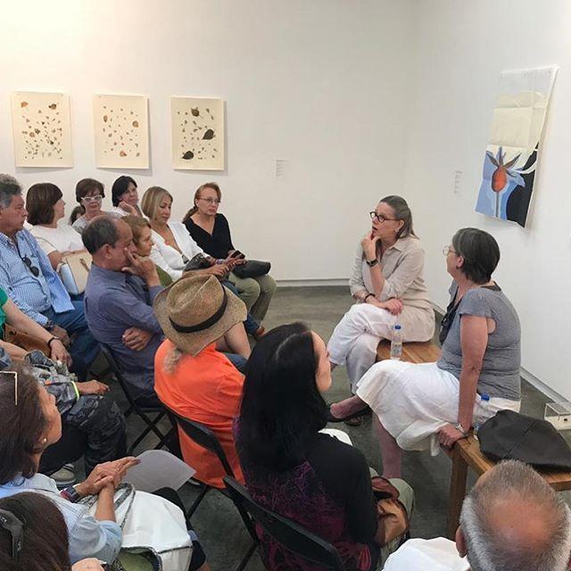 Charla en el marco de la exposición Rosa en tiempos de invierno y otros movimientos de Alexandra Kuhn. Carmen Araujo Arte, Caracas, 2019