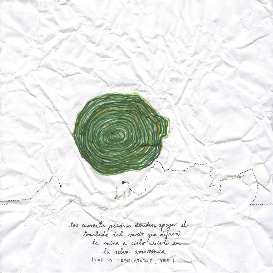 Santiago Contreras, 5458, 2018, libro de artista +dibujos originales + collage fotográfico (Libros: 20 x 20 cm, tapa de trupán) + hojas papel bond; 20 x 20 cm. Cortesía del artista