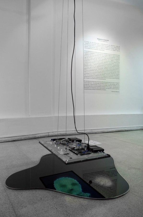 """Vista de la exposición """"Imágenes en transición"""", de Francisco Belarmino, en Galería BECH, Santiago, 2019. Foto: Diego Argote"""