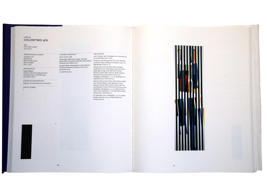 Doble página del Coloritmo 41a en Los Coloritmos de Alejandro Otero. Catálogo razonado. Foto: Rafael Santana