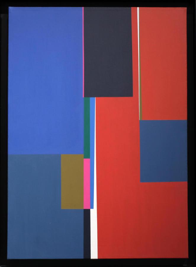 Mercedes Pardo, Untitled, 1985, acrylic on canvas, 27.56 x 19.69 in. Courtesy: Piero Atchugarry Gallery, Miami