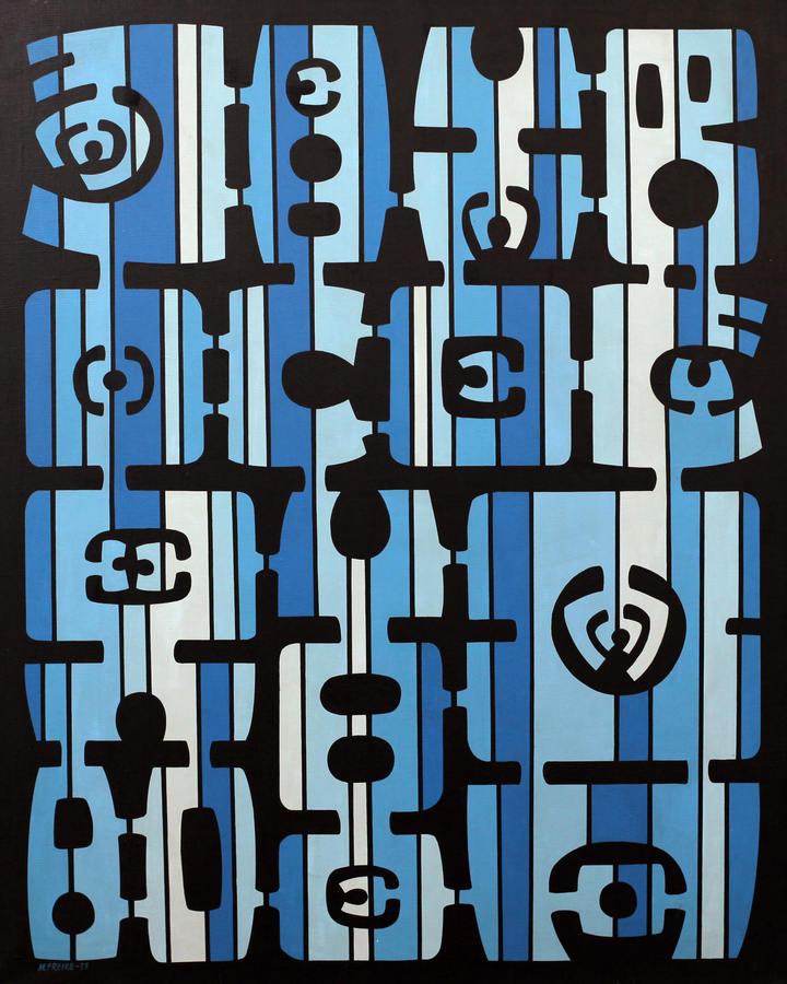 María Freire, Variante No. 115, 1973, acrylic on canvas. Courtesy: Piero Atchugarry Gallery, Miami
