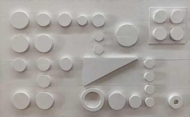 Loló Soldevilla, Untitled, 1957, relief on wood, 50 x 70 cm. Courtesy: Piero Atchugarry Gallery, Miami