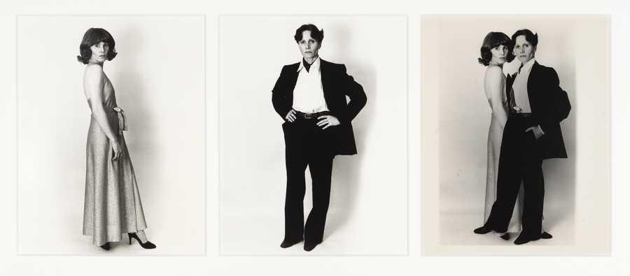 Karin Mack, Das Erscheinen des Animus [The appearance of the animus], 1980, tres fotografías en b/n, 30 x 24 cm c/u, única. © Karin Mack / Bildrecht, Viena, 2019 / The Verbund Collection, Viena