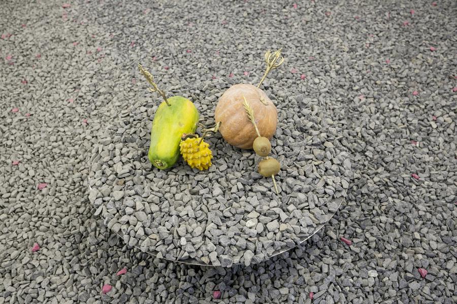 """Obra de Asma en la exposición """"Pach Pan"""", DiabloRosso, Ciudad de Panamá, 2019. Foto cortesía de la galería"""