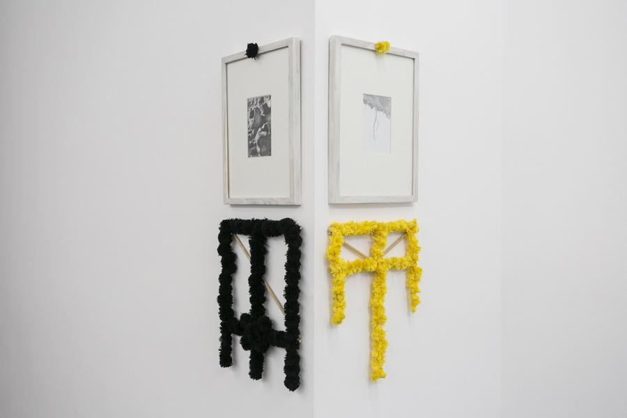"""Obras de Ulrik López en la exposición """"Pach Pan"""", DiabloRosso, Ciudad de Panamá, 2019. Foto cortesía de la galería"""
