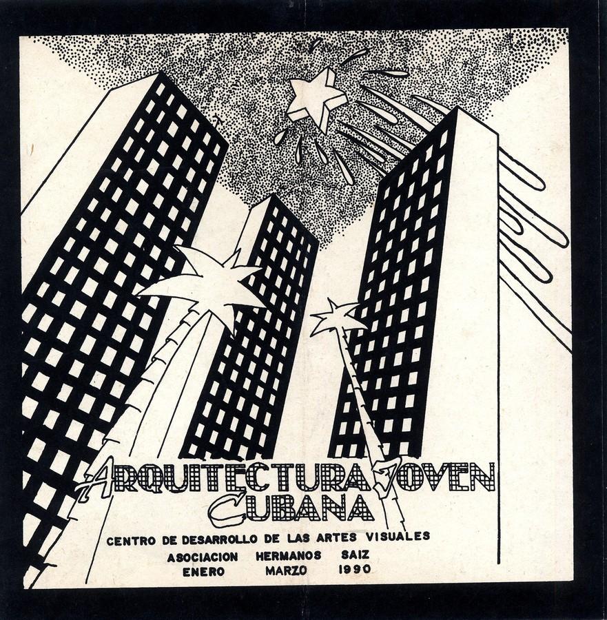 """Catálogo de la exposición """"Arquitectura Joven Cubana"""", 1990. La Habana. Diseño: Juan Luís Morales y Teresa Ayuso"""