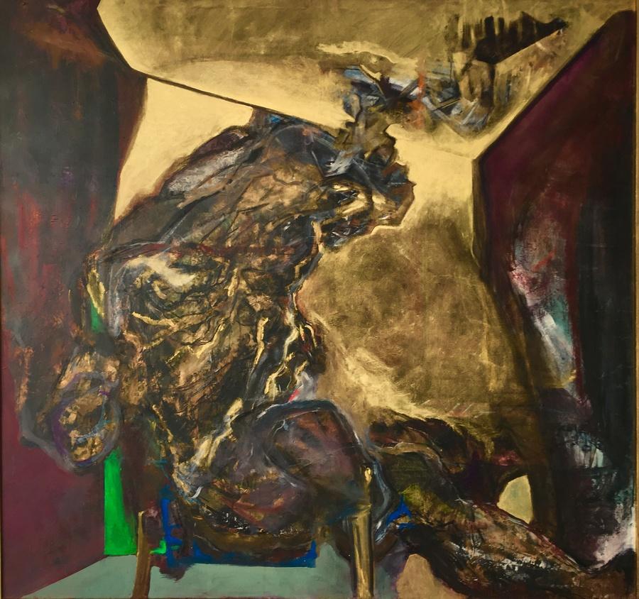Sebastián Yrarrázaval, Contemplativo V, 2019, óleo sobre tela, 197 x 207 cm. Cortesía: Aninat Galería