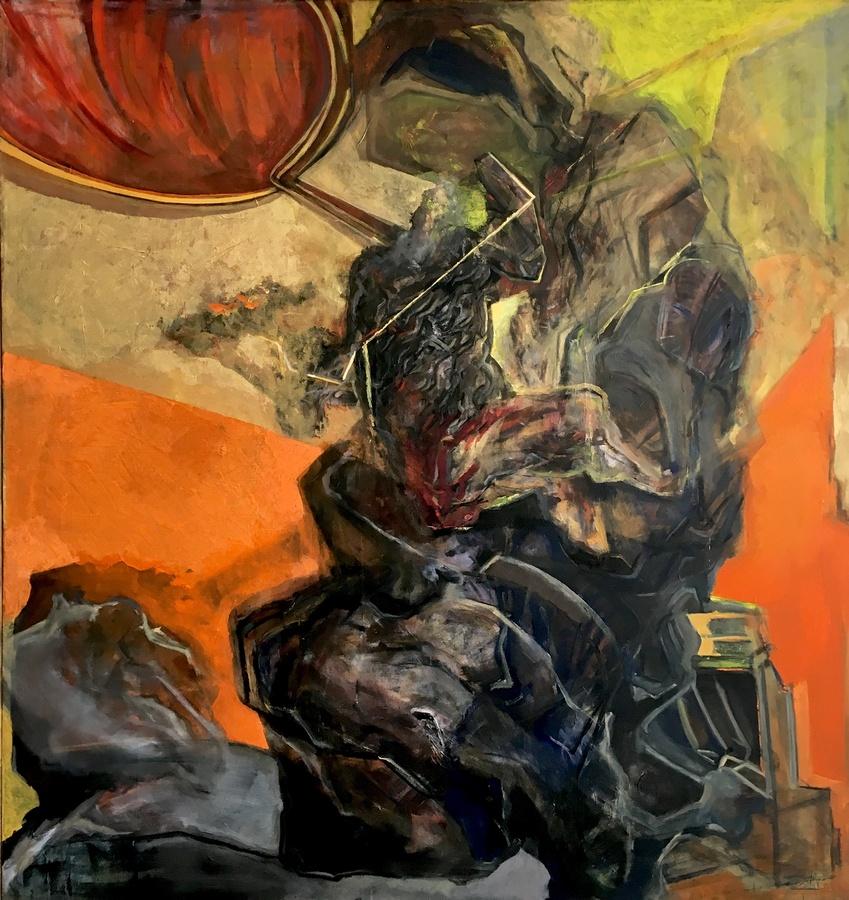 Sebastián Yrarrázaval, Contemplativo VI, 2019, óleo sobre tela, 207 x 197 cm. Cortesía: Aninat Galería