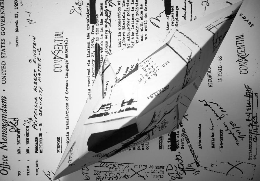 Yucef Merhi, FBI Seeds (Einstein #4), 2013, plexiglas, datos desclasificados sobre papel, 9 x 21 x 21 cm. Pieza Única.