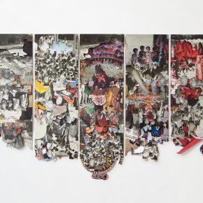 Manuel Eduardo González, La negritud en Venezuela (1991), 2019 / Papel. Collage / 87 x 104 cm. Cortesía del artista y Spazio Zero, Caracas