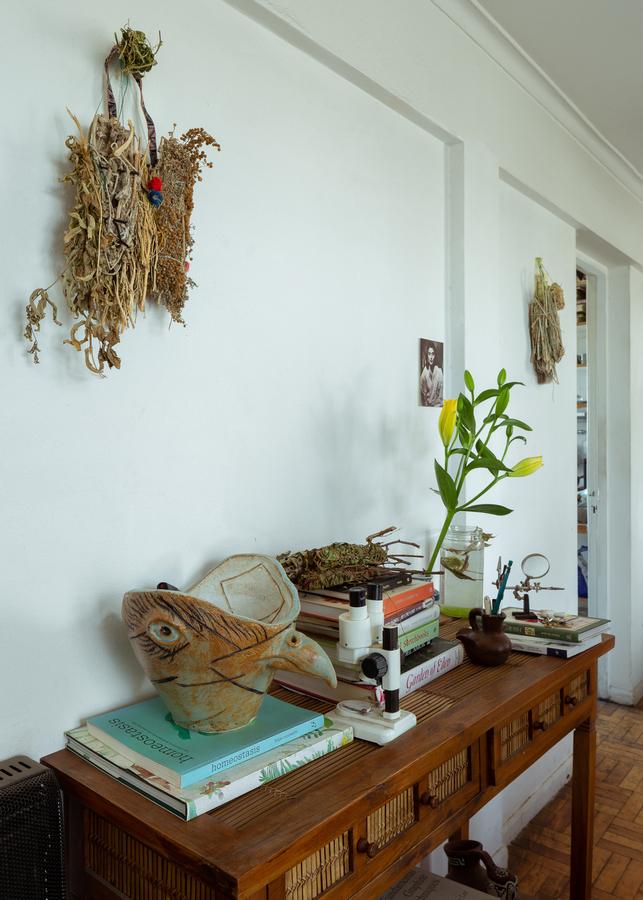 Vista del taller de la artista chilena Patricia Domínguez. Foto: Felipe Ugalde