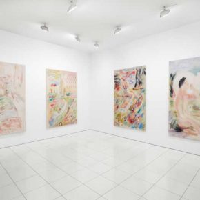 Installation view: Gus Van Sant: Recent Paintings, Hollywood Boulevard, Vito Schnabel Projects, New York, 2019 © Gus Van Sant; Photo by Argenis Apolinario; Courtesy the artist and Vito Schnabel Projects