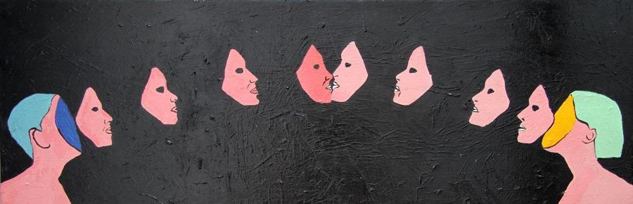 Parte de la serie de nuevas pinturas que presentará Manuela Viera-Gallo en Aninat Galería durante Galería Weekend 2019. Cortesía de la artista y Aninat Galería