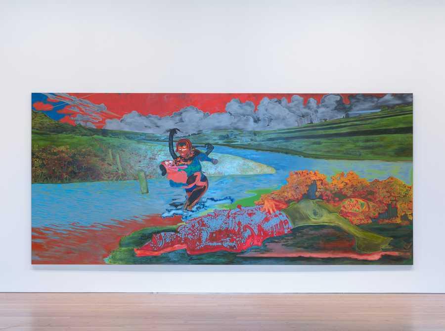 Janiva Ellis, Uh Oh, Look Who Got Wet, 2019. Vista de la Bienal del Whitney, Nueva York, 2019. Foto: Ron Amstutz.