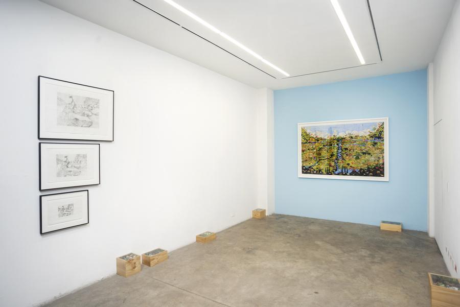 """Vista de la exposición """"Progresiones"""", de Jorge Julián Aristizábal, en Liberia, Bogotá, 2019. Foto cortesía de la galería"""