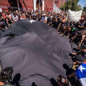 Frente Artístico, Por un Pacto Social y Nueva Constitución para Chile, 23 de octubre de 2019. Cortesía: Frente Artístico
