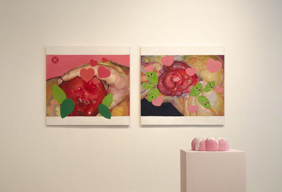 """Vista de la exposición """"Señoras online"""", de María Niño, en Abra, Caracas, 2019. Foto cortesía de la galería"""