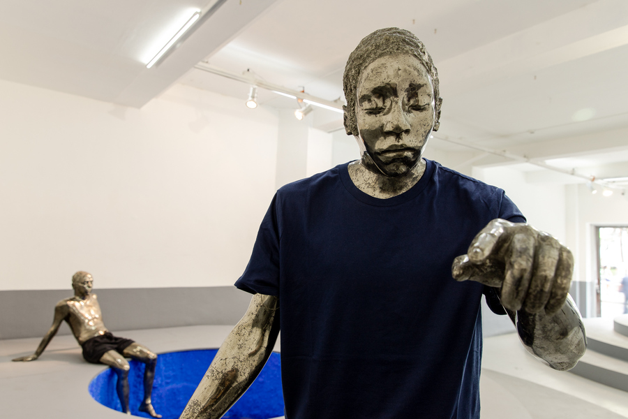 """Vista de la exposición """"Estratos"""", de Alejandra Prieto, en Galería Gabriela Mistral, Santiago de Chile, 2019. Foto cortesía de la artista y GGM"""