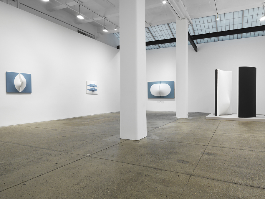 Installation view, Zilia Sánchez, Eros, Galerie Lelong & Co., New York, November 21, 2019 – January 17, 2020. Courtesy Galerie Lelong & Co., New York.