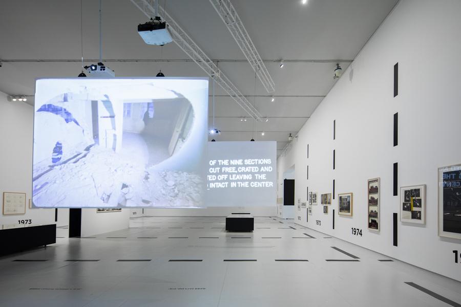 "Exhibition view ""Passing Through Architecture: The 10 Years of Gordon Matta-Clark"", at The Power Station of Art (PSA), Shanghai, China, 2019-2020. Photo courtesy PSA"