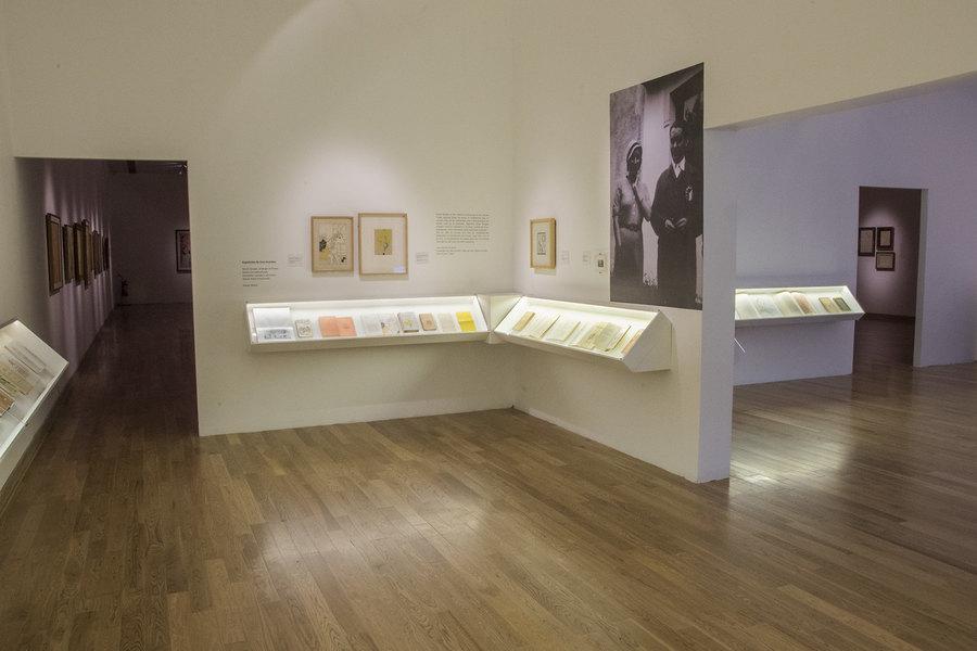 """Vista de la exposición """"Norah Borges. Una mujer en la vanguardia"""", en el Museo Nacional de Bellas Artes, Buenos Aires, 2020. Foto: Matías Iesari"""
