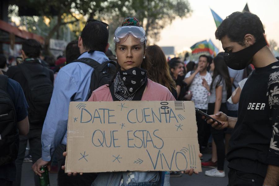 Manifestaciones sociales en Santiago de Chile, Octubre-Diciembre 2019. Foto: Jorge Brantmayer