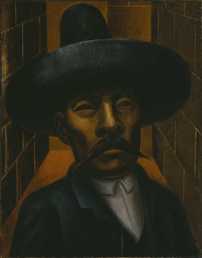 David Alfaro Siqueiros. Zapata, 1931, óleo sobre tela, 135.2 × 105.7 cm. Hirshhorn Museum and Sculpture Garden, Smithsonian Institution, Washington, DC © 2019 ARS/SOMAAP. Foto: Lee Stalsworth