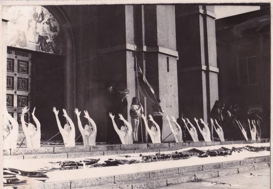 Acción PIDEE, 1988, Archivo Ricardo Sepúlveda